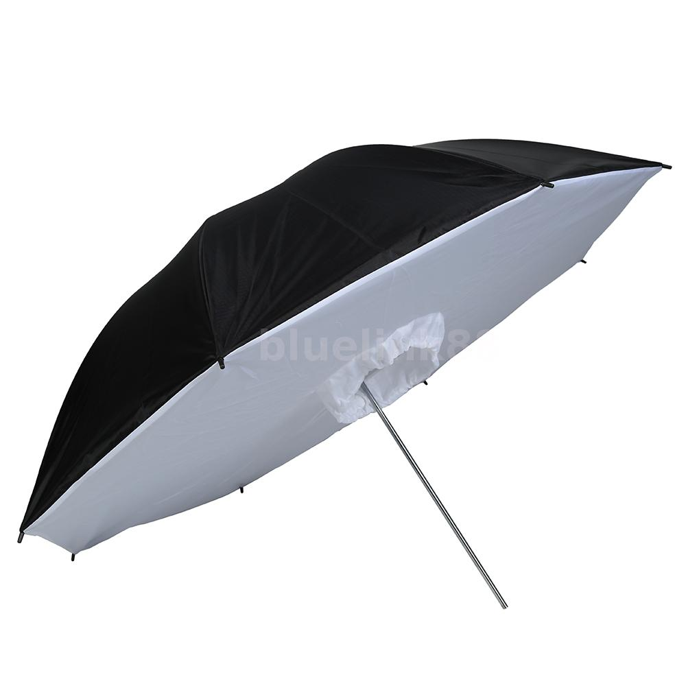 "Reflective Umbrella Softbox: 40"" 102cm Black White Reflective Photo Studio Umbrella"