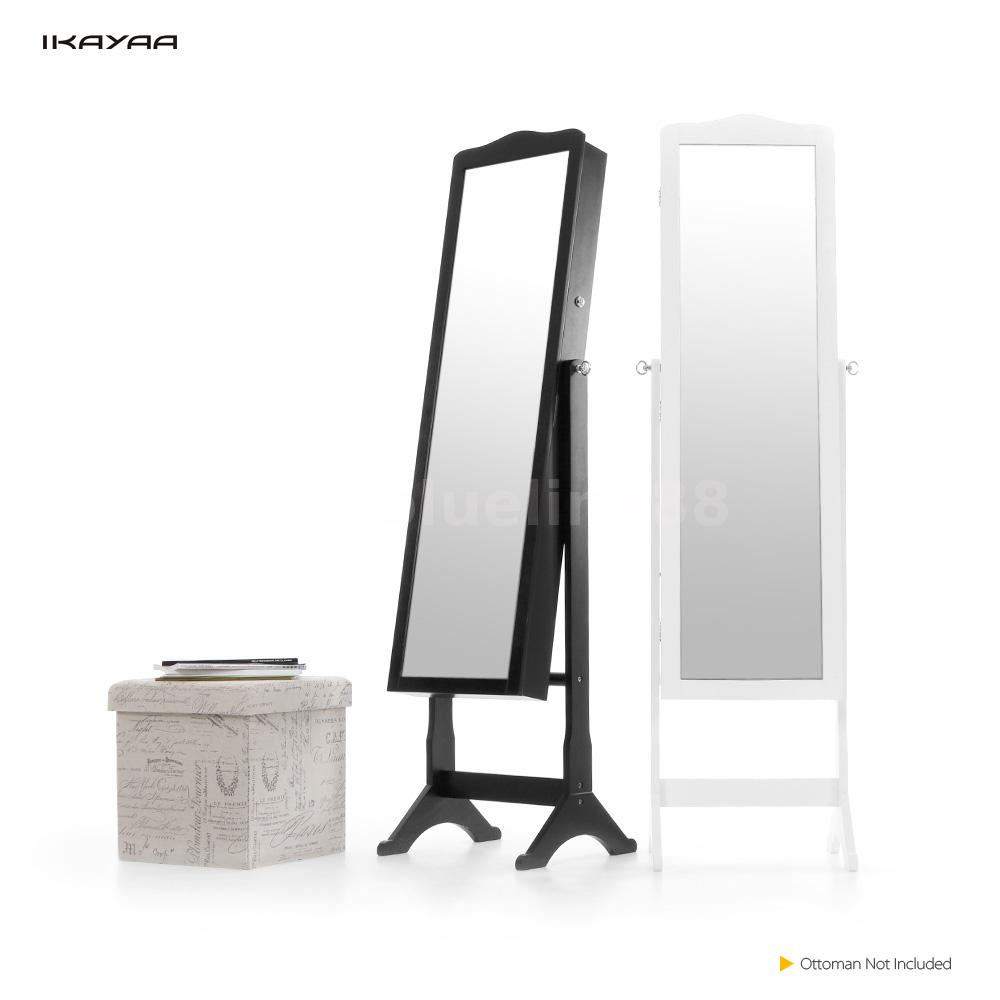 mirrored jewelry cabinet armoire mirror organizer storage box with stand e6t3 ebay. Black Bedroom Furniture Sets. Home Design Ideas