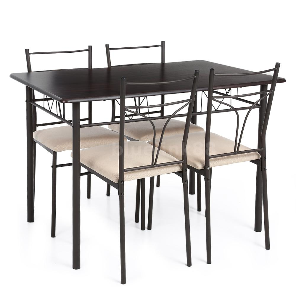 essgruppe sitzgruppe esstisch mit 4 st hlen k chen tisch stuhl garnitur neu x4h6 ebay. Black Bedroom Furniture Sets. Home Design Ideas