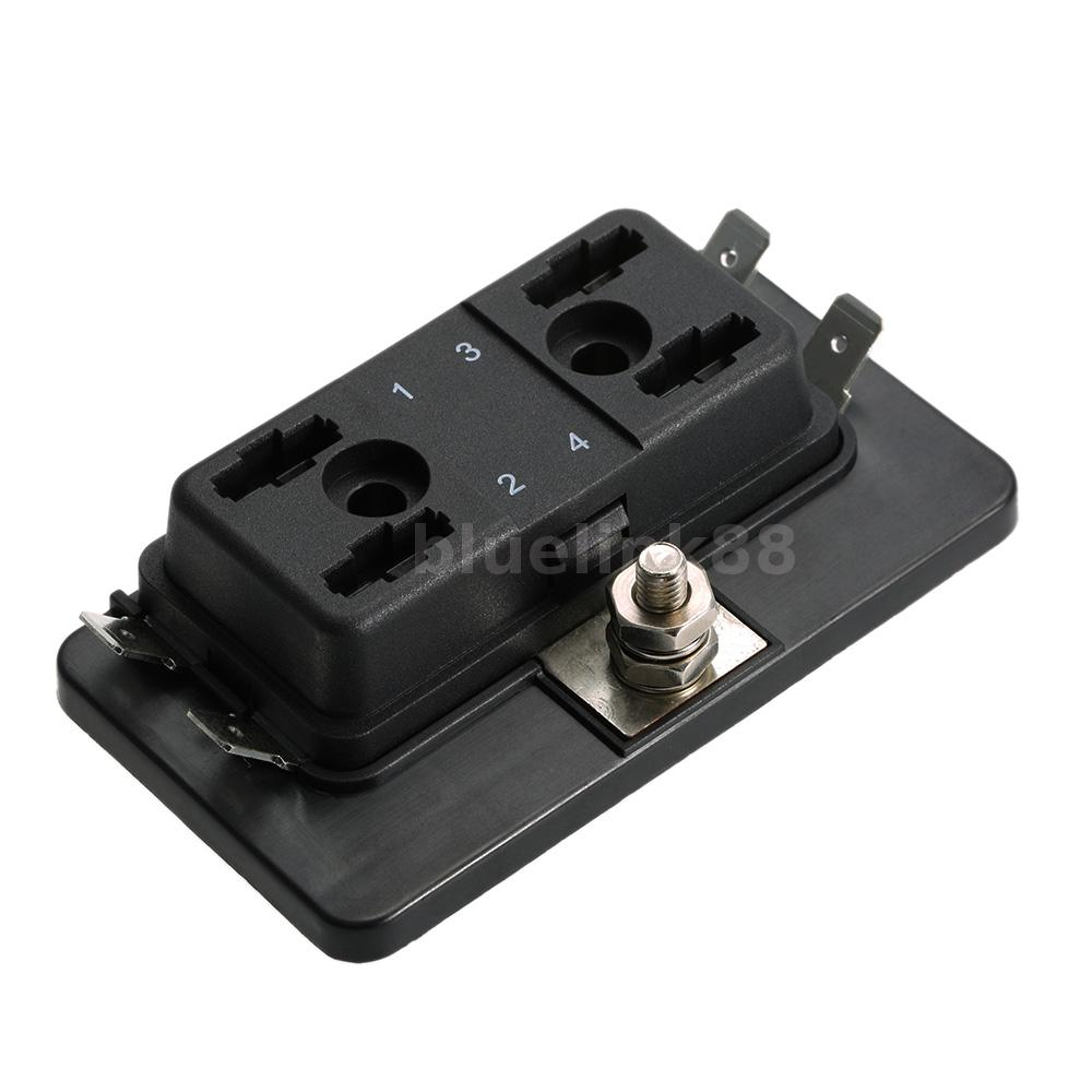 4 way fuse holder box car vehicle boat circuit mini blade. Black Bedroom Furniture Sets. Home Design Ideas