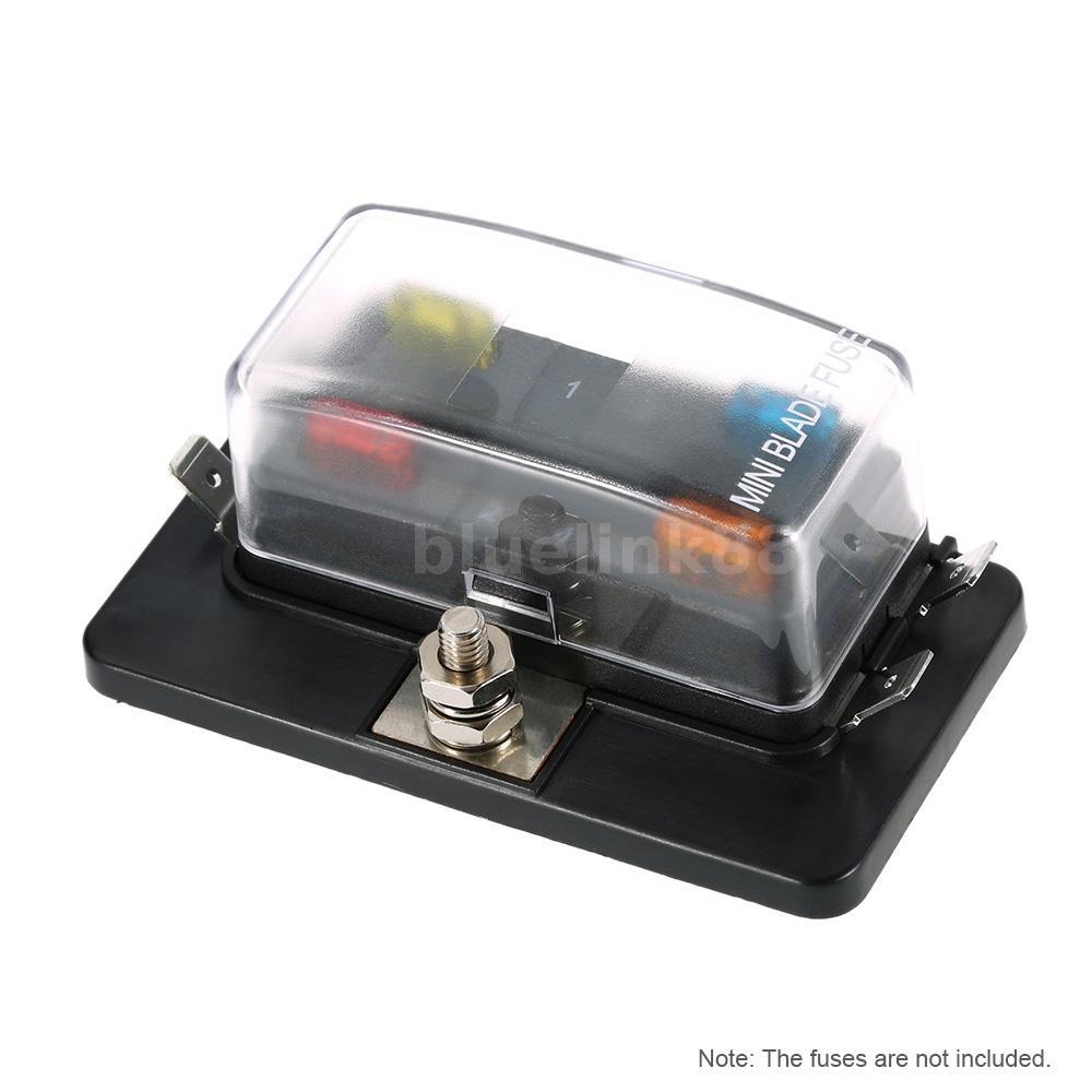 mini marine fuse box grainger marine fuse box 4 way fuse holder box car vehicle boat circuit mini blade ... #7