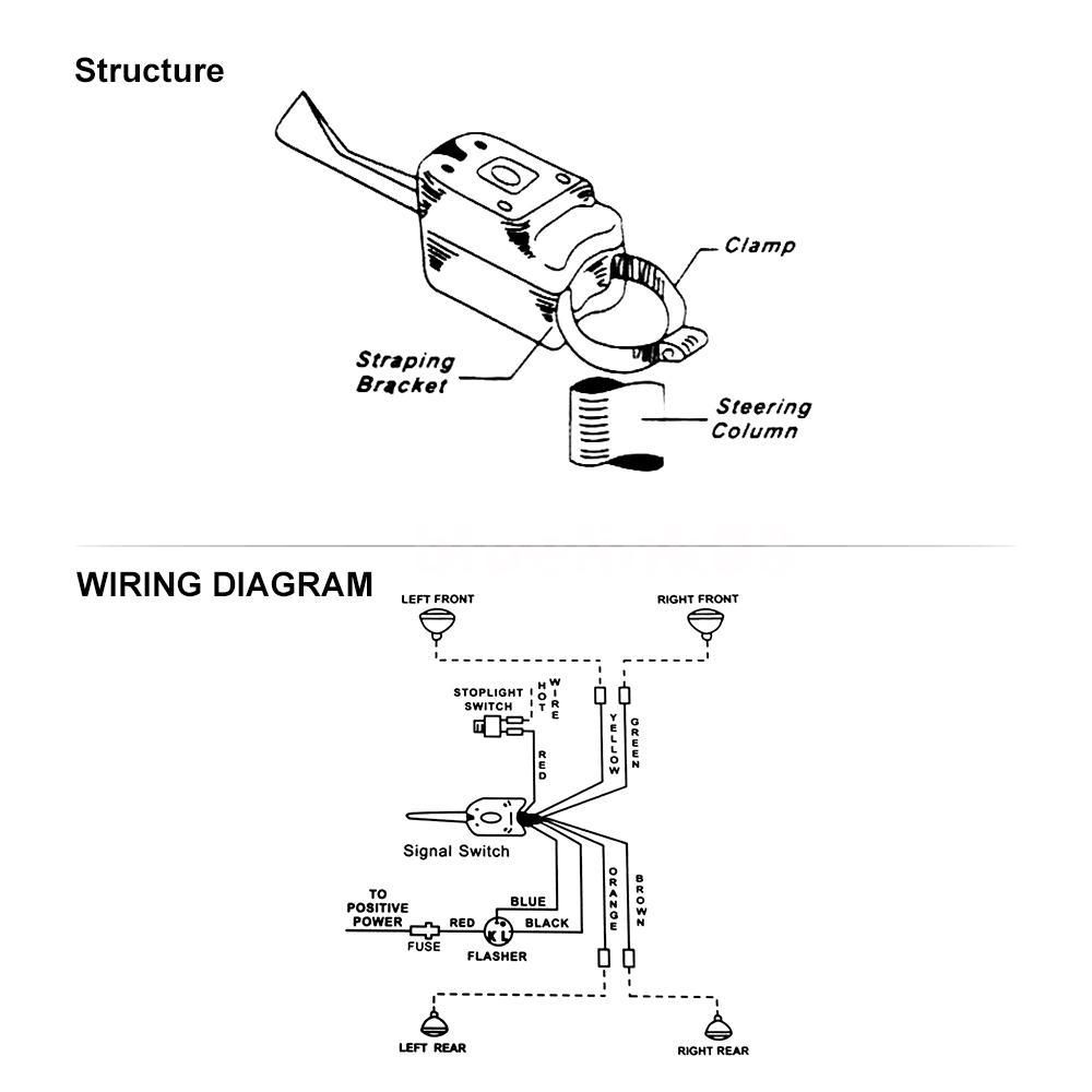 UNIVERSAL Chrome 12V Street Hot Rod Turn Signal Switch For