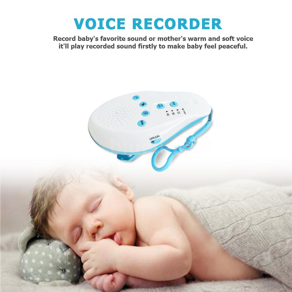 Details about Baby Sleep Sound Machine White Noise Voice Sensor Soothing  Music Timer S6I4